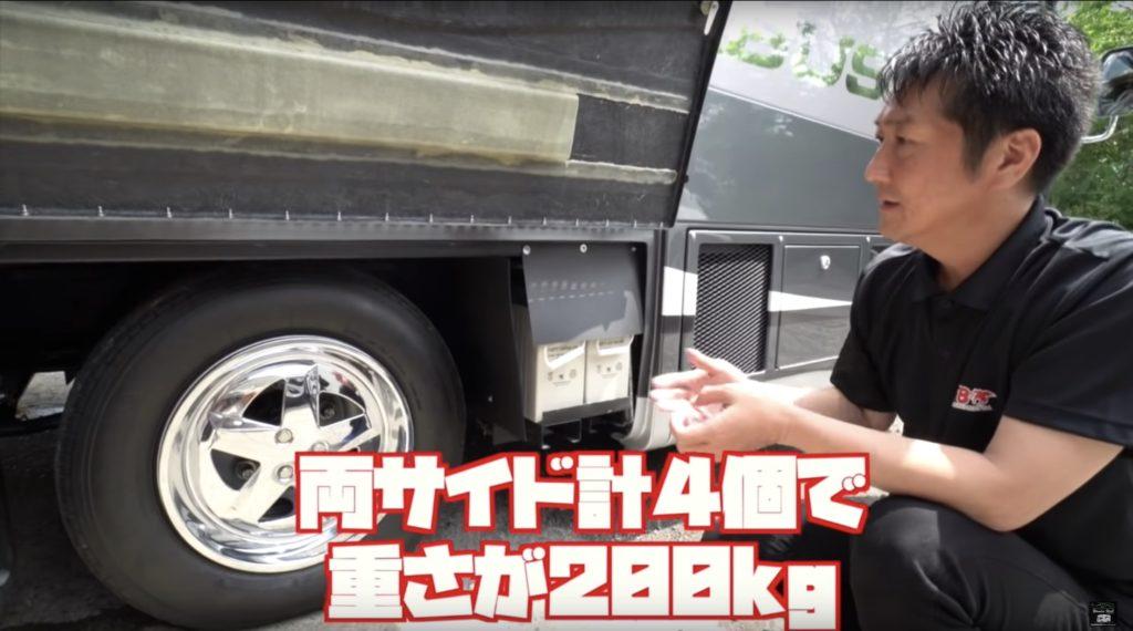 日本特殊ボディのはやぶさのサブバッテリー