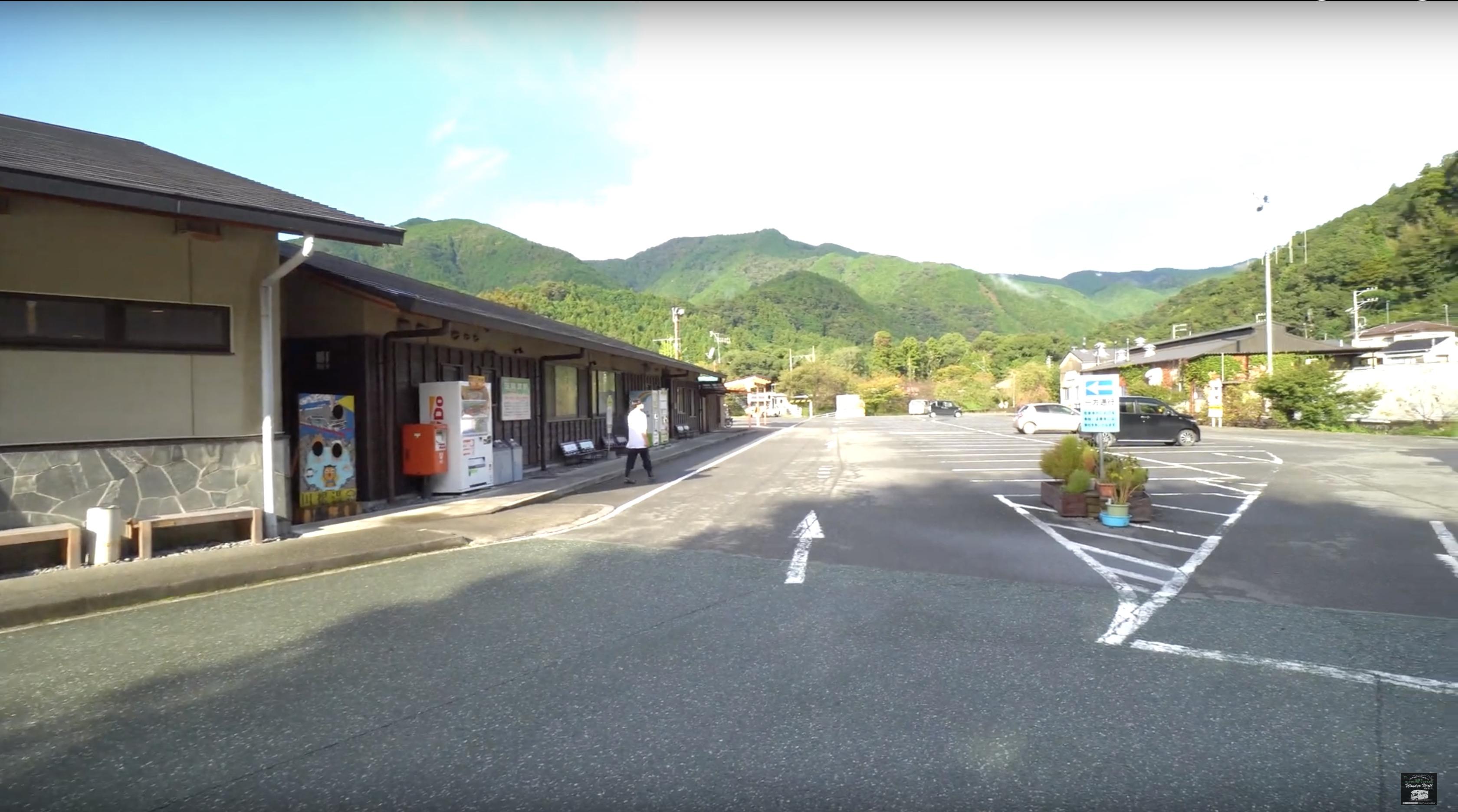 道の駅川根温泉の駐車場